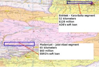 Rehabilitation of two segments of Bishkek-Osh road to be completed in 2015