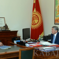 "President Atambayev: ""Bishkek should become the most green and cozy city in Central Asia"""